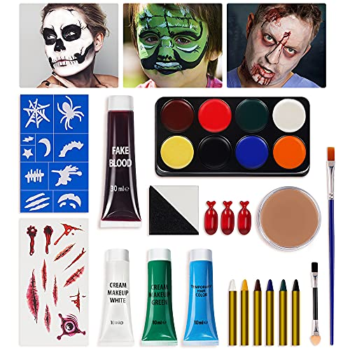 Halloween Makeup Kit Face Paint - Special Effects Halloween Make Up Set for Adults...