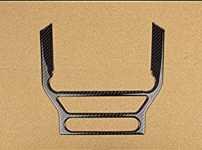 Carbon Fiber Frame Cover Trim Sticker For Ford Mustang LHD (Air Conditioner CD Media Dashboard Trim Cover)
