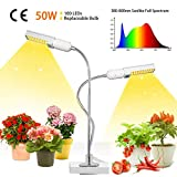 50W Lampada per Piante, Upgrade Grow Light Full Spectrum, 2 Pack Grow Bulbs, Lampada da co...