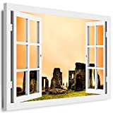 Boikal XXL141-3 Fensterblick Leinwand Bild 3D Illusion -
