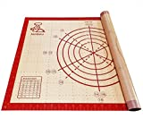 Silicone Baking Mat Pastry Mat Non Slip Non Stick Extra Large Bread Kneading Board with Measurements...