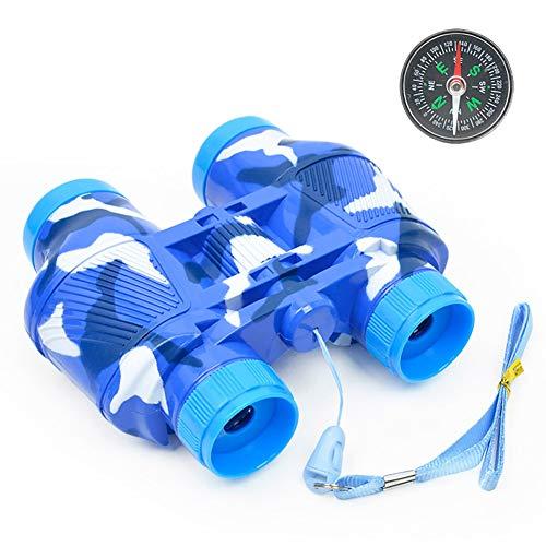 ACHICOO Toy Telescope, Kids Simulate Fernglas Telescope Compass Lernspielzeug mit Halsriemen für Outdoor blau Kinder