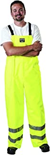 Udder Tech High Visibility Waterproof Bibbed Overalls, Large, Safety Yellow
