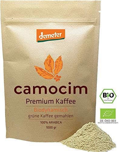 Grüner Kaffee Bio Gemahlen | Single-State Camocim Farm, Brasilien | 100% Arabica Rohkaffee Fein Gemahlen | BIO Demeter Qualität Siegel | (1000 gr)