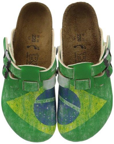 Birki KAY BF DD DF 936363 Unisex-Kinder Clogs & Pantoletten,Grün (FLAG BRAZIL),EU 35