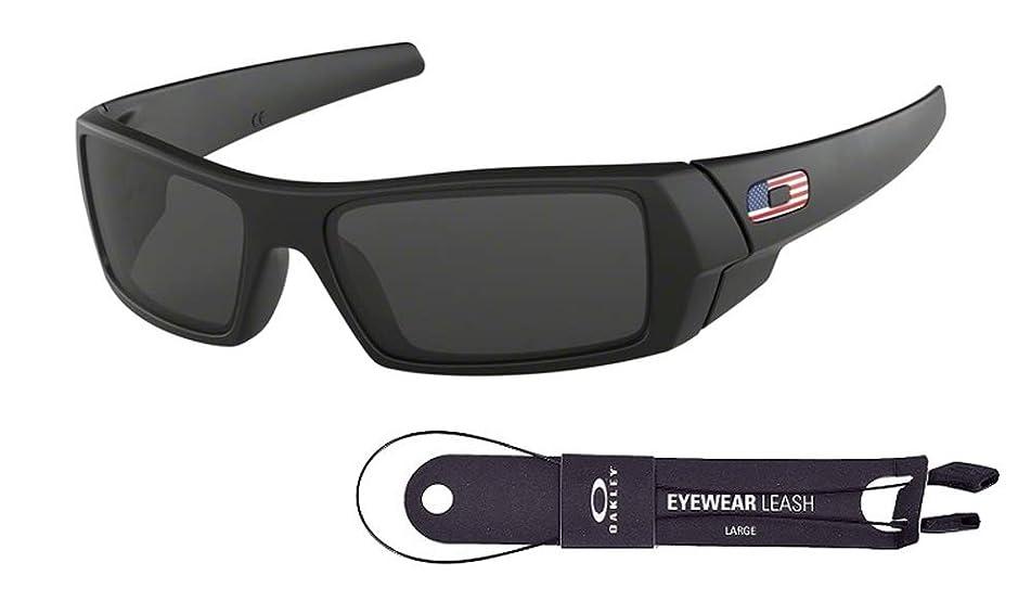 Oakley Gascan OO9014 Sunglasses+BUNDLE with Oakley Accessory Leash Kit (Matte Black/Grey, 61)