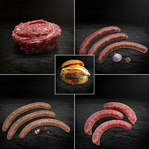 Mixed Grillpaket deluxe - Wagyu Steakhouse Burger, Morgan Ranch Wagyu Steakschnecke,...