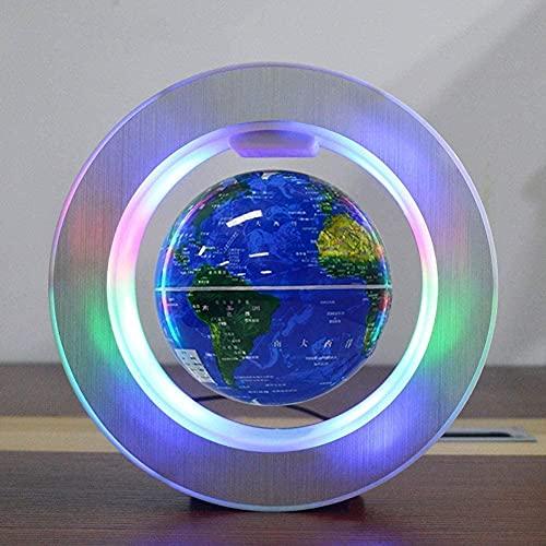 Decoración para el hogar Ornamento creativo Escultura de escritorio Decoraciones de escritorio, Mapa Explora el mundo Globo flotante Magnético Levitación Globo Decoración Colgante Decoración Artesanía
