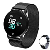 WELTEAYO Smart Watch for Android iOS Phone, Activity Fitness Tracker Watches Smartwatch with IP67Waterproof Notification SMS Heart Rate, Sleep Monitor Compatible for Men Women