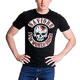 Walking Dead Camiseta de Caballero Savior Patches Negro de algodón - M