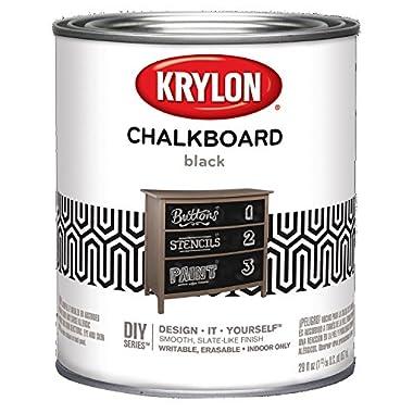 Krylon K05223000 Chalkboard Paint Special Purpose Brush, Black, Quart
