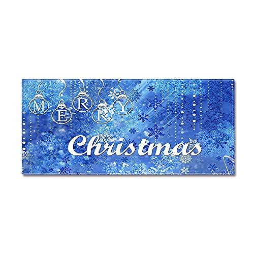 OPLJ Alfombra Antideslizante de Cocina, Pasillo con Estampado navideño, Alfombra de la Puerta de Entrada del Dormitorio de la Sala de...