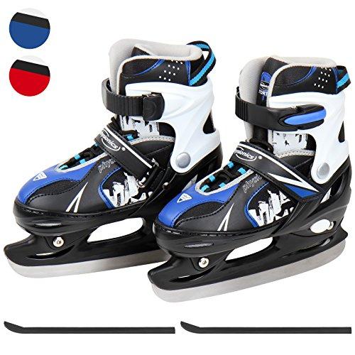 Physionics 30/33–geeignet für Hockey–Hockey-Schlittschuhe in blau und Größenverstellbar