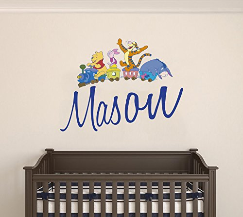 Winnie The Pooh and Friends Custom Name Wall Decal - Personalized Nursery Name -Wall Decal for Nursery Decoration playroom Decoration (Wide 20'x16' Height Inches)