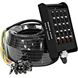 Seismic Audio - SALS-12x4x100 - 12 Channel 100' Pro Stage XLR Snake Cable (XLR & 1/4' TRS Returns)...