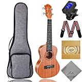 Soprano Ukulele Ranch 21 inch Wooden ukelele Instrument Kit With Free Online 12