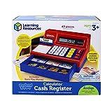 Learning Resources Caisse Enregistreuse et Calculatrice en Euros Pretend & Play