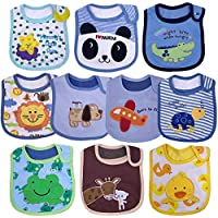 Yafane 10X Baberos Bebé Impermeables Algodón Baberos absorbentes Bandana Drool para Bebé Niños de 3 a 24 Meses