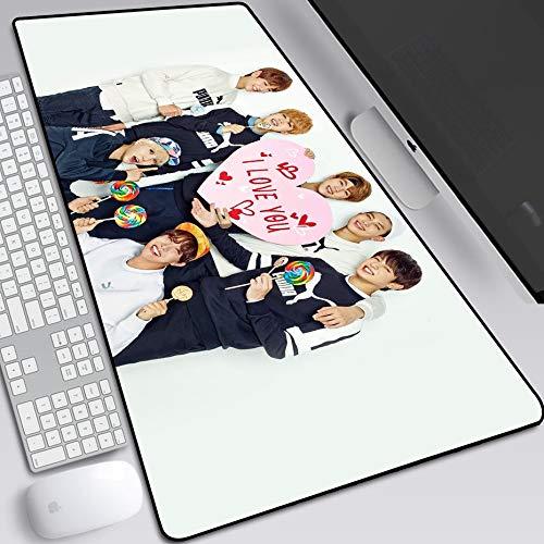 ZDVHM Extended Gaming Mouse Pad K-Pop Cantante Estrella BTS Grande Teclado Ratón Mat...