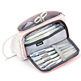 MRBJC Estuche para lápices, gran capacidad con asa, bolsa de lona, caja de papelería para estudiantes, oficina, escuela, secundaria, 21,5 x 11 cm