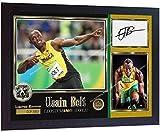 SGH SERVICES Poster, gerahmt, mit Autogramm von Usain Bolt,