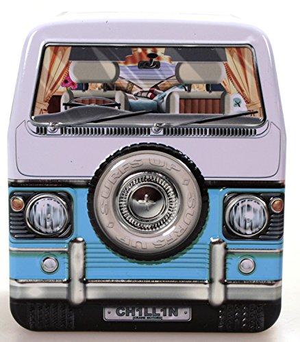 stylebox Blechdose Bus Camper blau 11 cm Keksdose Deko Box Auto Van Bulli