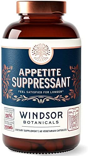 Appetite Suppressant for Weight Loss Windsor Botanicals High Potency Formula Feel Fuller Faster product image