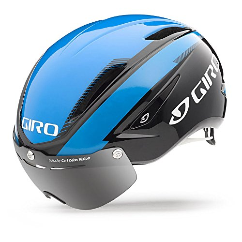 GIRO Air Attack Shield Casco da Gara, Blu/Nero, S