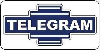 Metal Tin Sign Telegram Blue Retro Vintage Style 8''x12'' Decor Aluminum Sign Wall Sign
