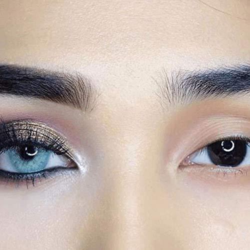 Freshlady Hidrocor Jahreslinsen: natürliche, farbige Kontaktlinsen, deckende Kontaktlinsen für dunkle Augen: Blau, grau, grün, braun (Topazio)