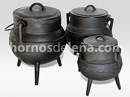 hornosdeleña Olla de Hierro Fundido con Patas. 4 litros