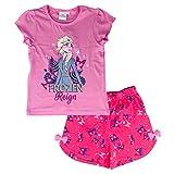 Pijama niña Disney Frozen II camiseta y pantalón corto de algodón estampado 2828 Rosa 8 años