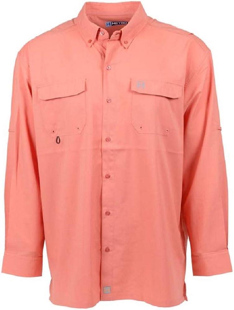 お金を節約 Heybo Men's The Boca Shirt 供え Grande LS Fishing