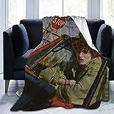 Finn Wolfhard Fleece Blanket Ligero Super Suave Cozy Luxury Bed Manta Microfibra