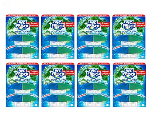 WC FRISCH Duo-Aktiv Nordische Pinie, WC-Reiniger und Duftspüler, Nachfüllpack, 8er Pack (8 x 100 ml)