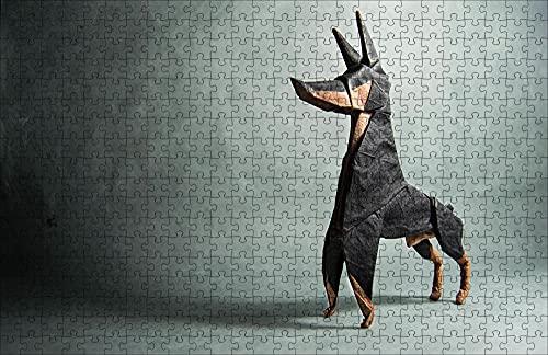 LHJOY Puzzle 5000 Piezas Adultos Doberman Perro Origami Papel Animal Regalo de cumpleaños 52x38cm