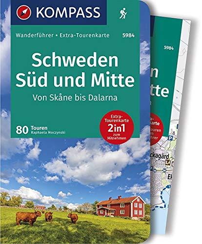 KOMPASS Wanderführer Schweden Süd und Mitte, Von Skåne bis Dalarna: Wanderführer mit Extra-Tourenkarte 1:50000, 80 Touren, GPX-Daten zum Download.