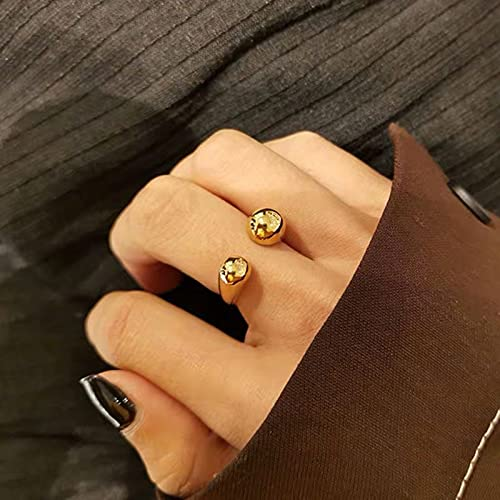 SHILIU Stylish Round Head Open Ring For Women Jewelry Accessories 2021