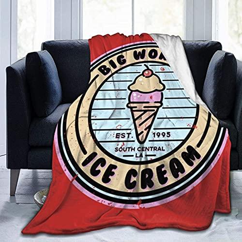 Kteubro Big Worm'S Ice Cream Throw Blanket Ultra Soft Plush Micro Flannel Fleece Lightweight Cozy Fuzzy Living Room/Bedroom Bed Couch Sofa All Seasons Warm Blanket Quilt D6363