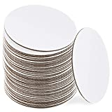 10 Inch White Cake Boards [48 Pack] Round Circle Cardboard Base Corrugated, Perfect for Cake Decorating