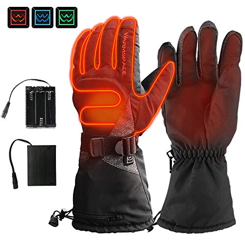 ILM Heated Motorcycle Gloves Warm Temperature Adjustable Wear Resistant for Winter Skiing Skateboard Work Fit Men Women