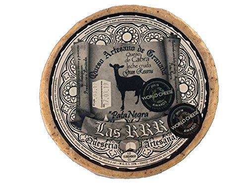 Queso gourmet de cabra de primerísima calidad con certificado World Cheese Awards. Semicurado, Curado y Gran reserva. Quesería RRR. Envío GRATIS 24 h. (Gran reserva pata negra leche cruda, 1,800 Kg)