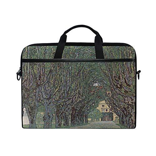 Ahomy 13.3-14 Inch Laptop Bag, Art Avenue In Park By Gustav Klimt Multifunctional Fabric Waterproof Laptop Case Briefcase With Shoulder Strap
