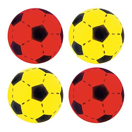 Softball 4er Set Farben Gelb & Rot ca. 20 cm Durchmesser