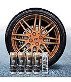 Pack Llantas Vinilo LIQUIDO Full Dip 4 Sprays Bronce Metalizado Brillo...