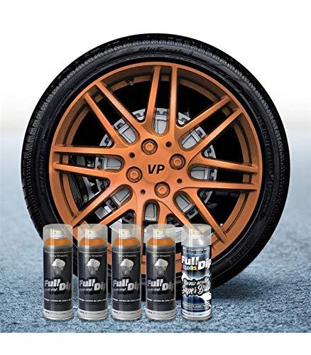 Pack Llantas Vinilo LIQUIDO Full Dip 4 Sprays Bronce Metalizado Brillo