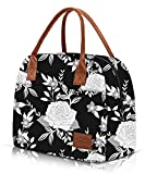 Lunch Bags for Women Insulated Lunch Box Large Womens Lunch Tote Purse Food Cooler Kits Adults Meal Prep for Work Office Picnic 12L Black By Moyad
