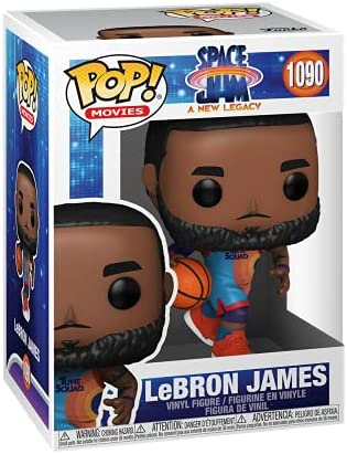 Funko Pop! Movies: Space Jam, A New Legacy - Lebron James Dribbling, Multicolor, 3.75 inches