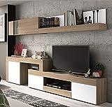 Mobelcenter - Mueble Salón Logan 003 - Blanco y Cambrian - 270x39x77cm (0478)