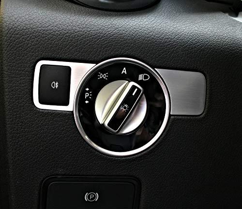 2-tlg. Zierblende für Lichtschalter Mercedes SLK 172 aus Aluminium R172 FL 280 200 350 AMG55 AMG45